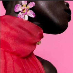 Pink Spring Flower Earrings
